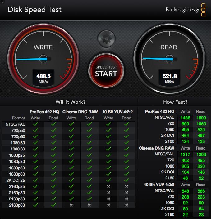 Velocidad SSD 500Gb